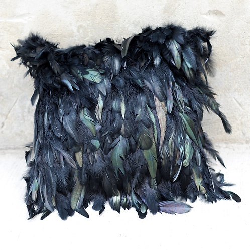 DMD70 Dyed Black Feather Pillow Cover