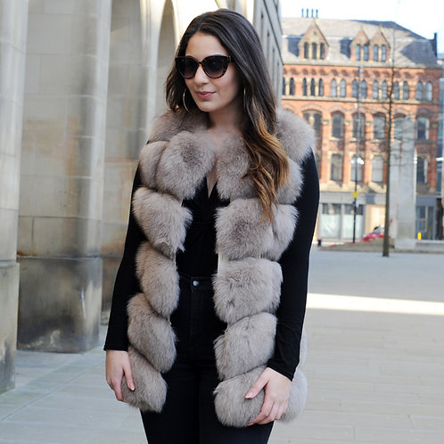 DMGB243M Finn Fox Fur Horizontal Design lady Gilet