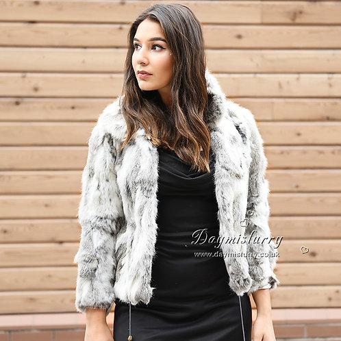 DMGA10 Pieced Rabbit Fur Jacket