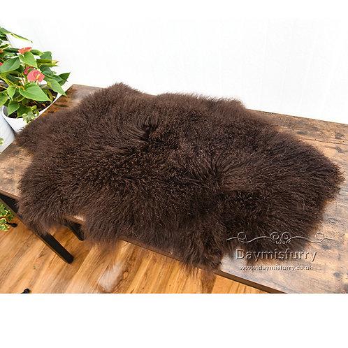 DMD60K 1 Pelt Mongolian Lamb Fur Rug (Single)