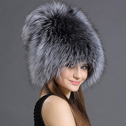 DMC73C  Silver Fox Fashion Winter Fur Hats