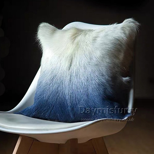DMD140B  Goat Lamb Fur Pillow / Cushion Case