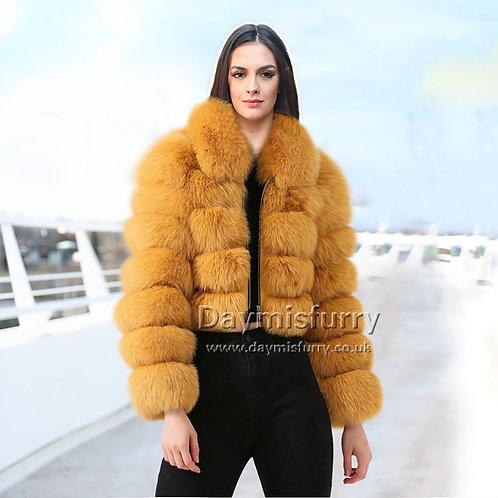 DMGA63 Layered Fox Fur Jacket