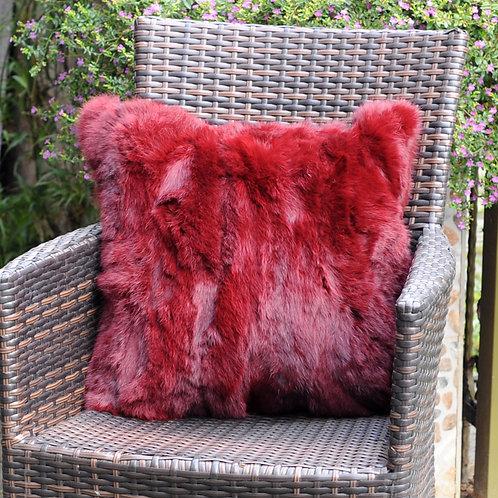 DMD17 Dyed Pieced Rabbit Fur Pillow Case