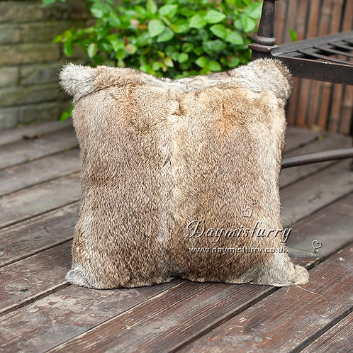 DMD05B Full Pelt Rabbit Fur Cushion / Pillow