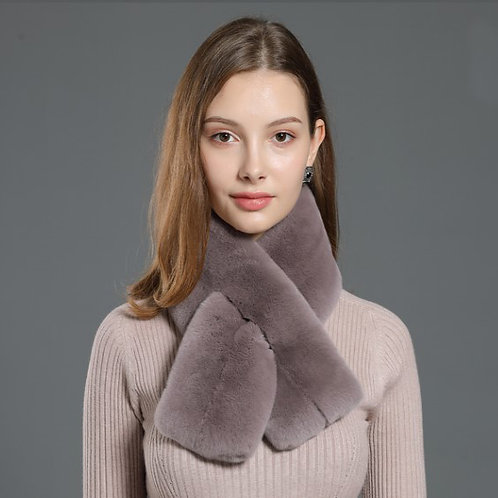 DMS56G Rex Rabbit Fur Scarves