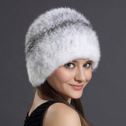 DMC51 Knit Mink Fur Beanie Hat