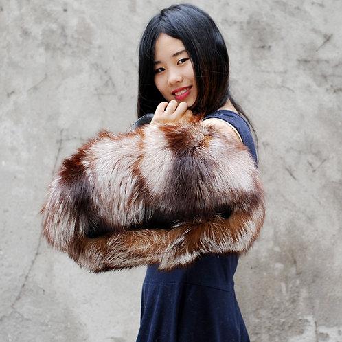 DMH30 Premium Finn Crystal Fox Fur Women Handbag