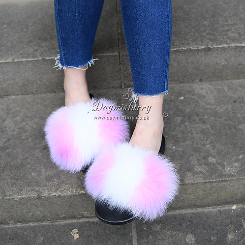DMA100Z Fox Fur Furry Slipper