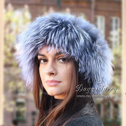 DME17D Silver Fox Fur Head Bands / Fur Scarf
