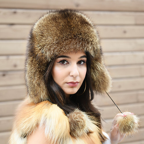 DMC52 Raccoon Full Fur Russian Hat
