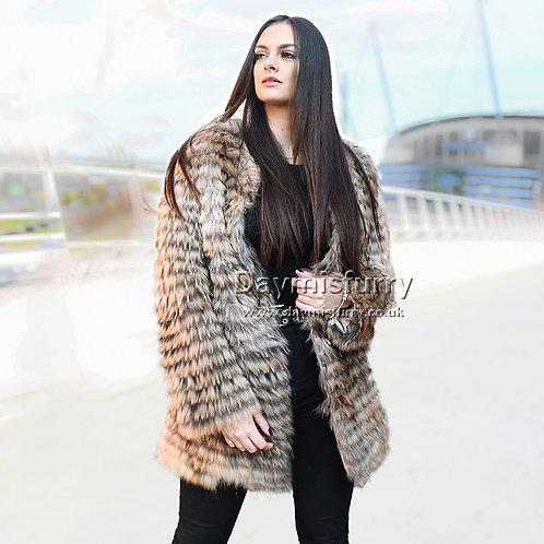 DMGA34D Dyed Raccoon Fur Jacket