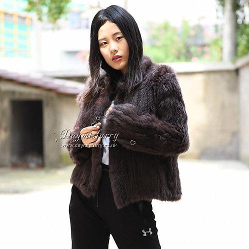 DMGA107 Knitted Rabbit Fur Jacket
