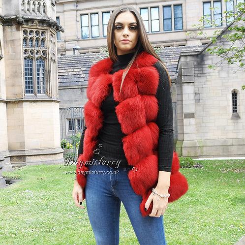 DMGB243D Fox Fur Fur Gilet / Fashion Fur Vest