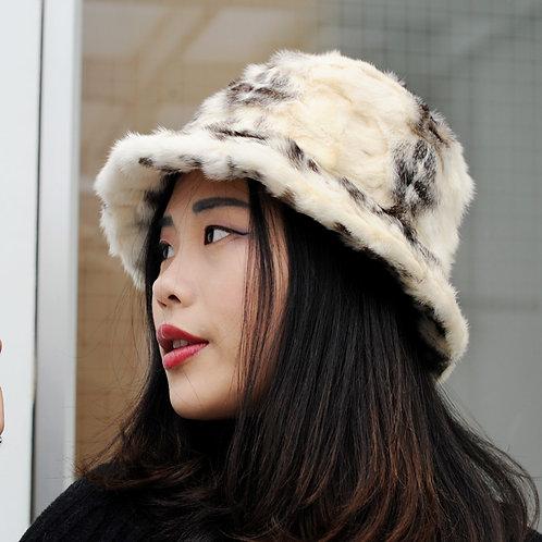 DMC173B Mink Fur Bucket Hat