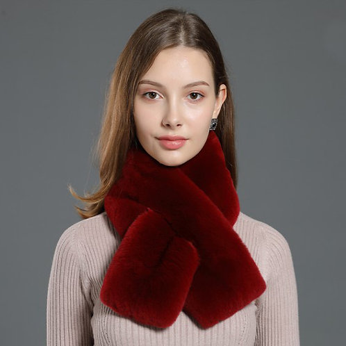DMS56H  Rex Rabbit Fur  Neck Scarf Muffler