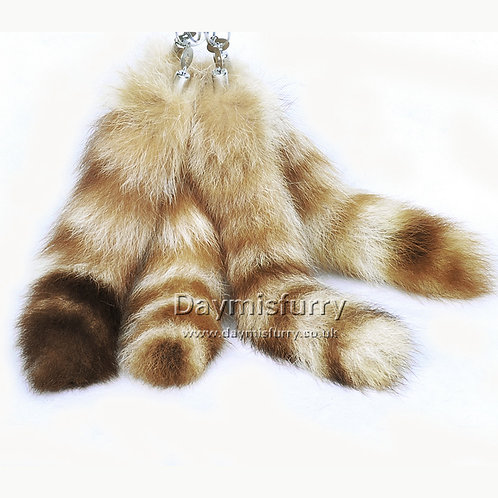 DMR05 Raccoon Tail Bag Clip / Costume Cosplay / Keychain