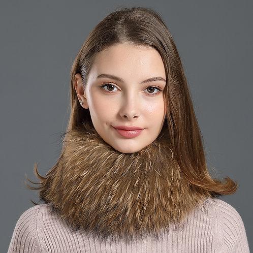DME17  Raccoon Fur Head Band / Neck Warmer Hair Accessory