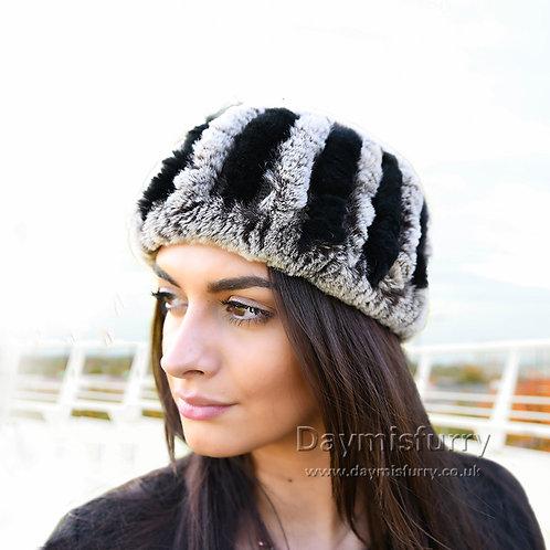 DME37C Rex Rabbit Fur Headband / Fur Scarf