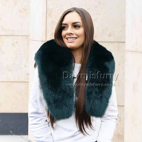 DMB06E Large Detachable  Fox Fur Collar Scarf