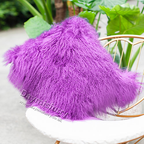 DMD04H  Mongolian lamb Fur Pillow / Cushion Case