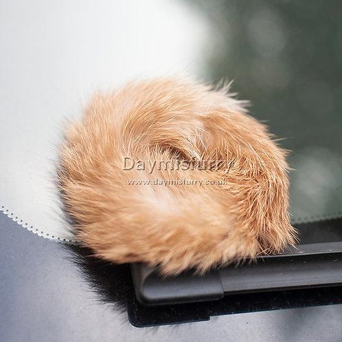 DME01 Rabbit Fur Scrunchy Hair Ties