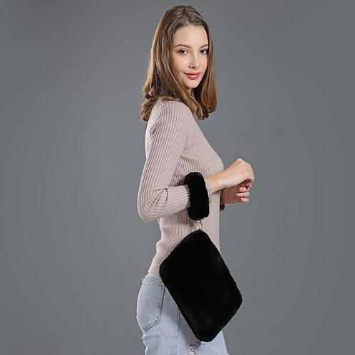 DMH04B Rex Rabbit Fur Hand Bag / Cosmetic Bag / Going out Bag / Fashion bags