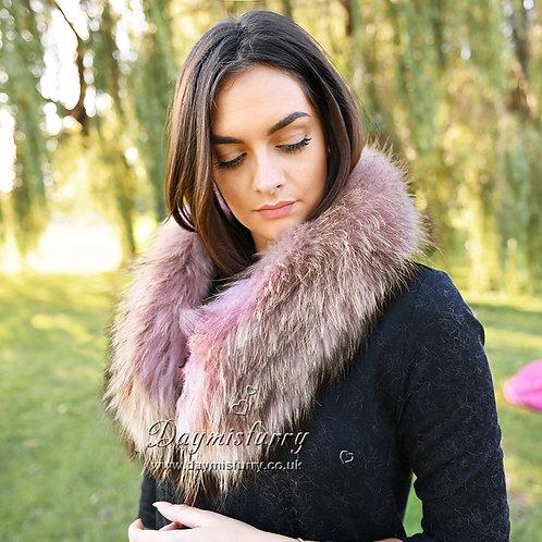 DMA37D Detachable Raccoon Fur Collar  Scarf
