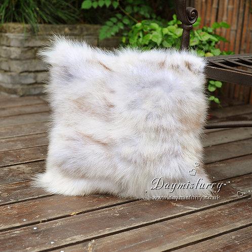 DMD101C Patchwork Fox Fur Pillow