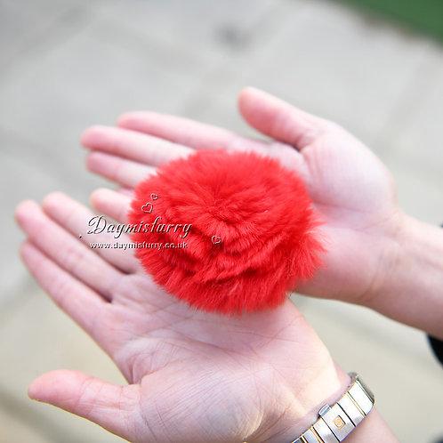 Rex Rabbit Fur Flower Brooch Pin / Toque Pin