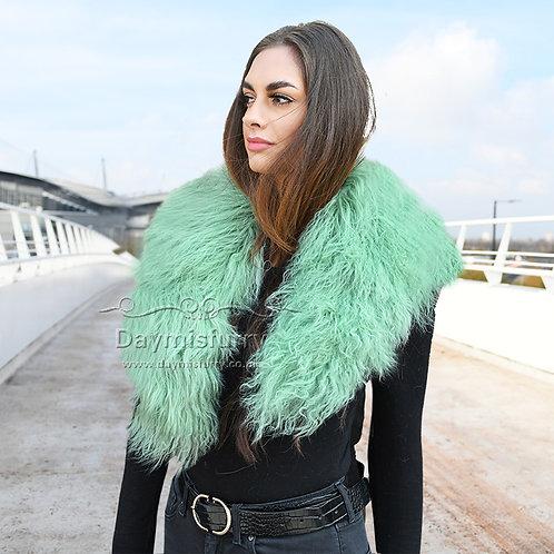 DAA52 Detachable Mongolian Lamb Fur Collar / Fur Scarf
