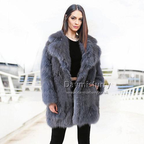 DMGA03  Pieced Fox Fur Jacket