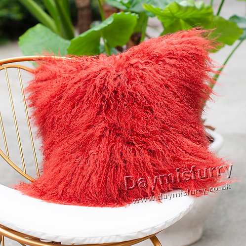 DMD04K  Mongolian lamb Fur Pillow / Cushion Case