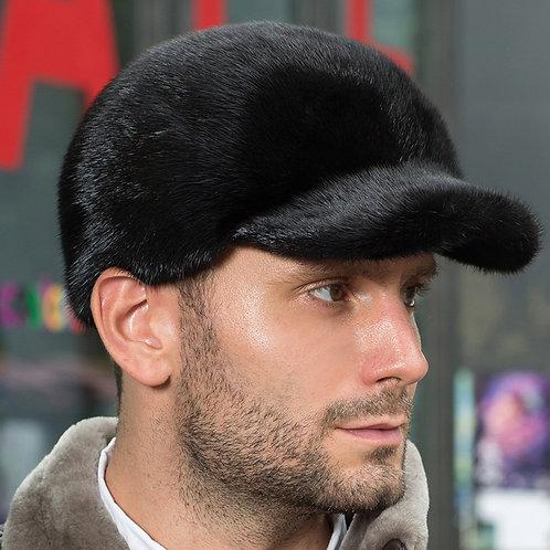 DMC146A Black Mink Fur Riding Hat