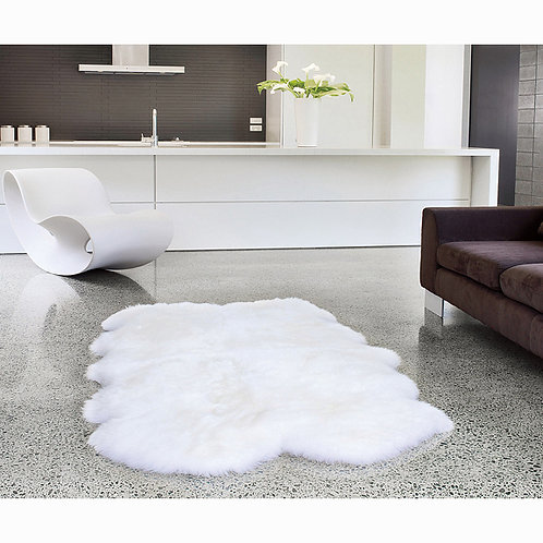 DMD110 4 Pelt Australian Whole Sheepskin Rug