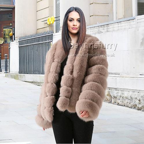 DMGA227 Layered Fox Fur Coat