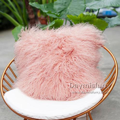 DMD04G  Mongolian lamb Fur Pillow / Cushion Case
