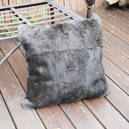 DMD05H Full Pelt Rabbit Fur Cushion / Pillow