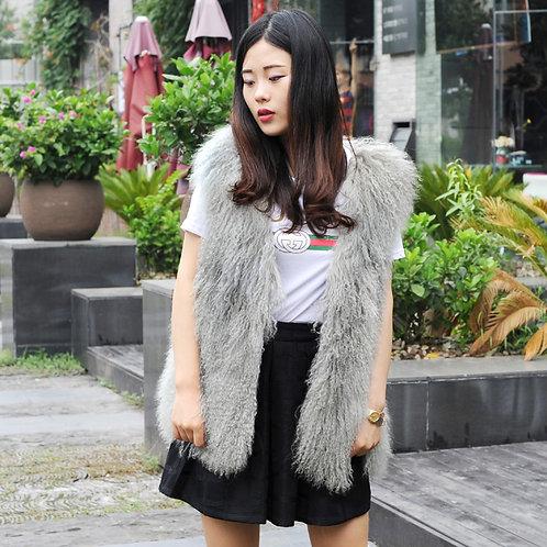 DMGB83M Chic Mongolia Lamb Duster Vest