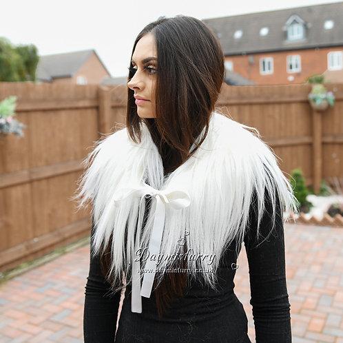 DMA48B Goat Fur Scarf / Winter Fur Collar