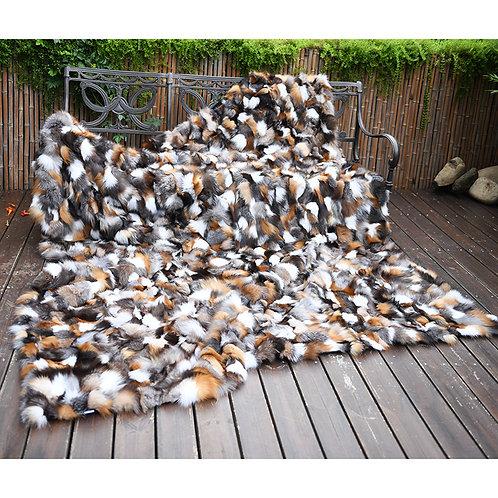 DMD38 Section Finn Fox Fur Blanket / Fur Throw