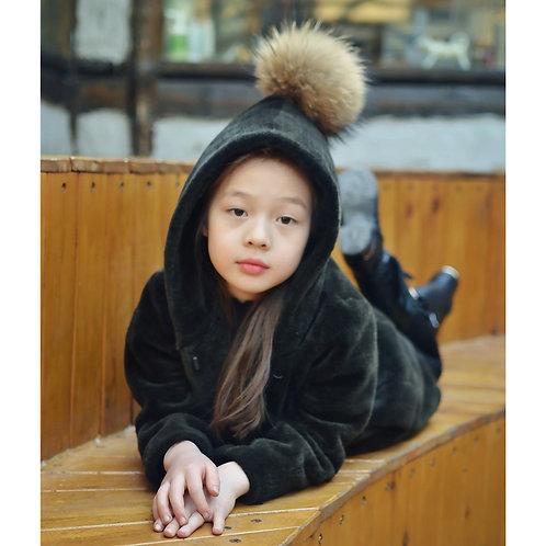 DMGC010 Shearing Sheep Fur Kid's  Hoody
