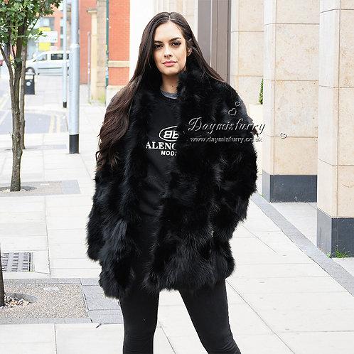 DMGA203 Pieced Raccoon Fur Jacket