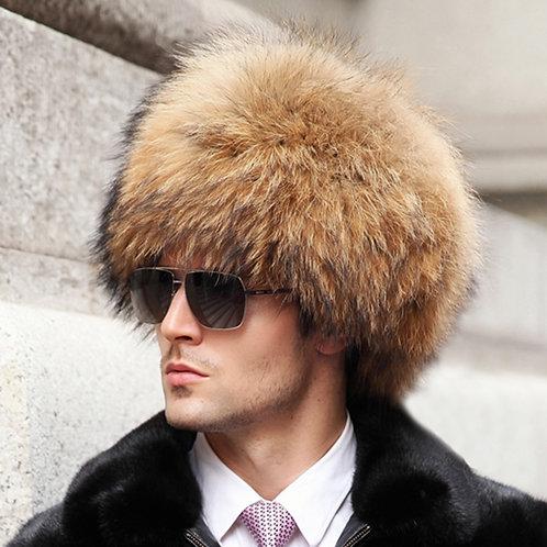 DMC82B  Racccoon Fur Pill Box Men's Hat