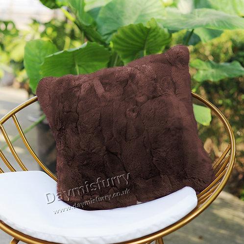 DMD22E Dyed Rex Rabbit Fur Pillow Cover / Cushion Cover