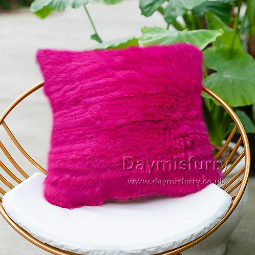 DMD79N Knit  Rabbit Fur Pillow Case / Cushion Cover