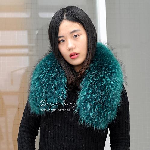 DMA76E Large Detachable Finest Raccoon Fur Parka Collar