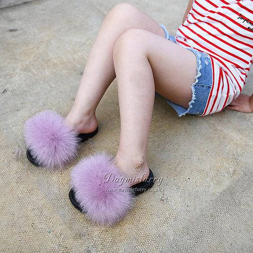Fox Fur Kid's Slide - Purple Heather