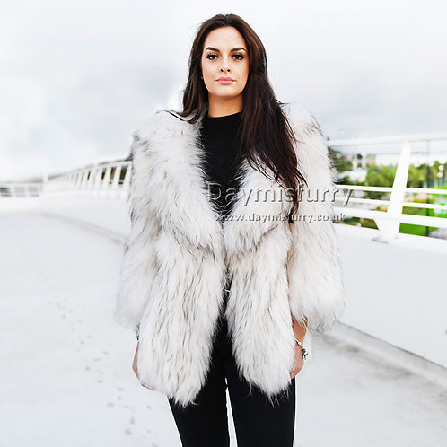 DMGA204 Knitted Raccoon Fur Jacket