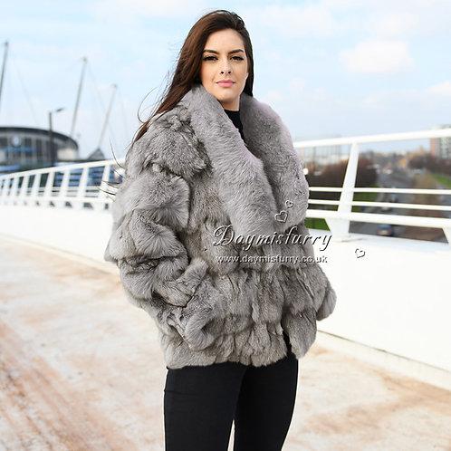 DMGA106C  Fox Fur Coat